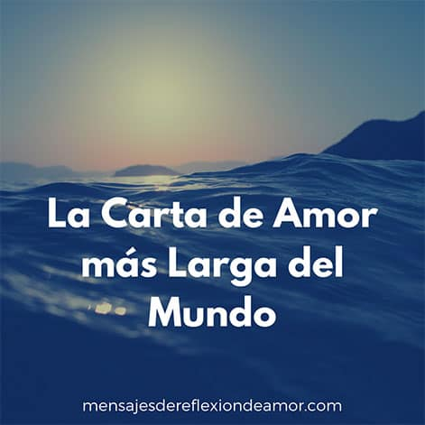 Carta de amor larga
