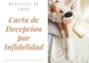 carta de decepcion por infidelidad
