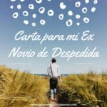 carta a mi ex novio de despedida