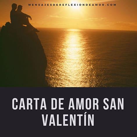 Carta de amor san Valentín